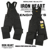 IRON HEART 12oz WABASH STRIPE DOUBLE KNEE OVERALLS IH-819画像