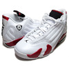 NIKE AIR JORDAN 14 RETRO white/varsity red-black blanc/rpro-noir 487471-101画像