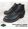 "NICKS BOOTS 5"" ROBERT Navy Chromexcel画像"
