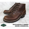 "NICKS BOOTS 5"" ROBERT Brown Chromexcel画像"