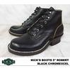 "NICKS BOOTS 5"" ROBERT Black Chromexcel画像"