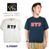 Cal Cru Men's S/S Raglan Gusset Rib T-Shirt RTP画像