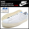 NIKE TENNIS CLASSIC AC White/Light Photo Blue Limited 377812-116画像