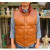 RAINBOW COUNTRY LEATHER DOWN VEST COWHIDE×HORSEHIDE CAMEL RCL-10037HC画像