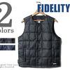 FIDELITY パッカブル インナーダウンベスト F15FO-01画像