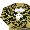 A BATHING APE 1ST CAMO APE FACE CREWNECK YELLOW 1B80-113-008画像