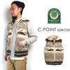 CANADIAN SWEATER Men's Cowichan W-Zip Hooded Vest #WHALE c.point special画像