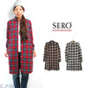 SERO #SR-03W Lady's Shirt Dress RoundCollar- Nel Check -画像