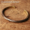 STUDEBAKER METALS TWISTED CUFF BRACELET BRASS画像
