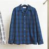 UNUSED Open collar check shirt. US1126画像