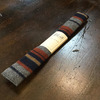 The Hill-Side Wool/Cotton Blanket Stripe, Grey/Navy/Rust- Square End Tie ST1-203画像