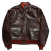 "Aero Leather A-2 ""42-15142-P"" (AeroLeather Clothing Co, Beacon NY) FRONT QUARTER HORSEHIDE - BROWN画像"