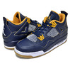 "NIKE AIR JORDAN 4 RETRO BG ""DUNK FROM ABOVE"" m.nvy/m.gold-.s-gld.l-wh 408452-425画像"