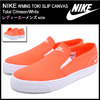 NIKE WMNS TOKI SLIP CANVAS Total Crimson/White 724770-810画像