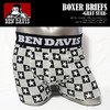BEN DAVIS BOXER BRIEFS -GRAY STAR- BDU-0012画像