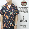 """STAR OF HOLLYWOOD × VINCE RAY S/S OPEN SHIRT """"BEAT INSTRUMENTAL"""" SH37278画像"""