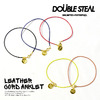 DOUBLE STEAL LEATHER CORD ANKLET 454-90015画像