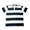 BARBARIAN S/S RUGBY JERSEY/navy x white画像