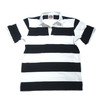 BARBARIAN S/S RUGBY JERSEY/black x white画像