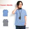 Vincent et Mireille Border Big T-Shirt MN16SC-06B画像