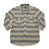 TOPAZ Cotton/Linen 3/4 Sleeve Horizontal Stripe Work Shirts「WABASH BLUEBIRD」 TS-2315画像