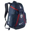 NIKE HOOPS ELITE MAX AIR TEAM BACKPACK USA MIDNIGHT NAVY/METALLIC SILVER BA5280画像
