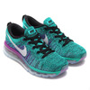 NIKE WMNS FLYKNIT MAX BLACK/WHITE-CLEAR JADE-HYPER VIOLET-COURT PURPLE 620659-013画像