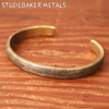 STUDEBAKER METALS LODGE CUFF BRACELET BRASS画像