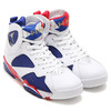 NIKE AIR JORDAN 7 RETRO WHITE/METALLIC GOLD COIN-DEEP ROYAL BLUE-FIRE RED-LIGHT IRON ORE 304775-123画像
