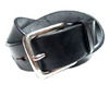 MARTIN FAIZEY 1.25 INCH WEST END BUCKLE SADDLE LEATHER BELT/black(pewter)画像