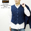 Soundman working waistcoat 「Marcy」 刺し子インディゴ染め M376-655I画像
