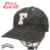 "FULLCOUNT 6 Panel Denim Baseball Cap ""F"" BLACK 6827画像"