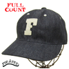 "FULLCOUNT 6 Panel Denim Baseball Cap ""F"" INDIGO 6827画像"