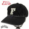 "FULLCOUNT 6 Panel Denim Baseball Cap ""F"" FADE BLACK 6827画像"