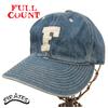 "FULLCOUNT 6 Panel Denim Baseball Cap ""F"" FADE GREEN 6827画像"