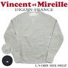 Vincent et Mireille クルーネック スウェットシャツ VM16FSRS102M画像