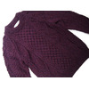 Athena Designs #8093 CREWNECK HANDKNIT HONEY COMB SWEATER/purple画像
