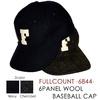 FULLCOUNT 6844 6PANEL WOOL BASEBALL CAP画像