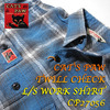 CAT'S PAW TWILL CHECK L/S WORK SHIRT CP27056画像
