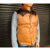 RAINBOW COUNTRY LEATHER DOWN VEST RCL-10037HC画像