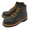 "RED WING RW8176 6"" Moc-toe Irish Setter Black Chrome画像"