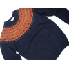 INVERALLAN #115065 NORDICK FAIRISLE YOKE DONEGAL SWEATER/navy画像