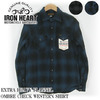 IRON HEART EXTRA HEAVY FLANNEL OMBRE CHECK WESTERN SHIRT IHSH-130画像