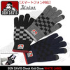 BEN DAVIS Check Knit Glove WHITE LABEL BDW-9615画像