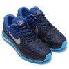NIKE AIR MAX 2017 DK OBSIDIAN/WHITE-DEEP ROYAL BLUE-RACER BLUE 849559-400画像
