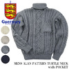 Guernsey Woollens MENS ALAN PATTERN TURTLE NECK width POCKET G16FK-08M画像