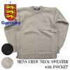 Guernsey Woollens MENS CREW NECK width POCKET G16FK-09M画像