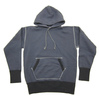 Two Moon Loop Wheel Body Set-in Sleeve Pullover Hooded Sweat Shirts 17514画像