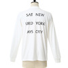 SATURDAYS SURF NYC Eastside Westside L/S T-Shirts M21729PT03画像