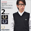 FRED PERRY Tipped V Neck Tank Vest SUEDEHEAD F3168画像